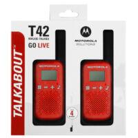 Motorola TALKABOUT T42 piros walkie talkie