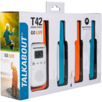 Motorola Talkabout T42 quad pack walkie talkie