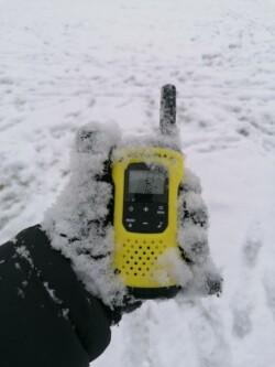 Adóvevő télen, hóban