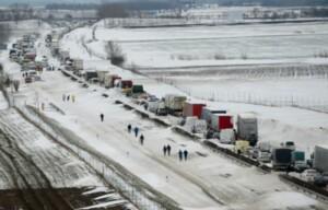 Hóhelyzet idején az M1 autópálya 2013