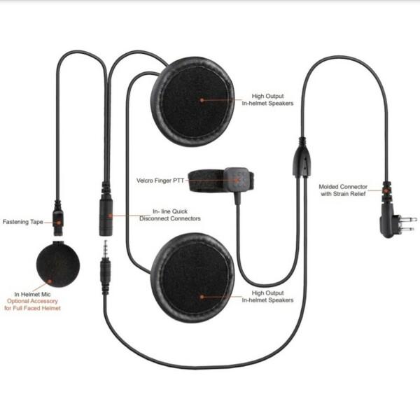 RHEL-09-M1 motoros / biciklis fülszett Motorola XT és DP sorozatú adóvevőkhöz